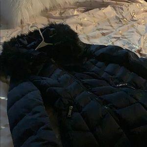 Tahari Womens Winter Coat Size Small Navy Blue